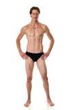 человек над белизной swimwear студии съемки Стоковые Фотографии RF