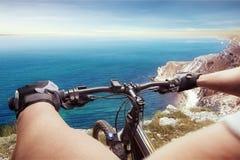 Человек на велосипеде Стоковые Изображения RF