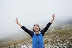 Человек на горе Grobnik Стоковое фото RF