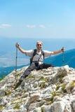 Человек на горе Pirin Стоковые Изображения RF