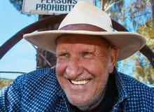 Человек на земле Австралии 2 Стоковое Фото