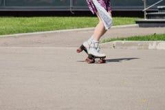 Человек на коньках ролика Стоковое Фото