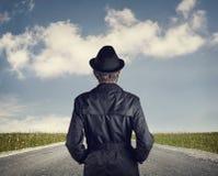 Человек на дороге стоковая фотография rf
