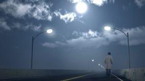 Человек на дороге Стоковые Изображения RF