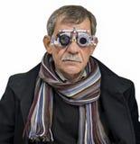 Человек на офтальмологе Стоковая Фотография