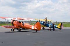 Человек на самолете Стоковые Фотографии RF