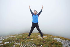 Человек на Grobnicke Alpe Стоковые Фотографии RF