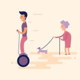 Человек на gyroscooter Стоковые Изображения