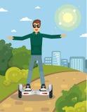 Человек на gyroscooter Стоковая Фотография RF