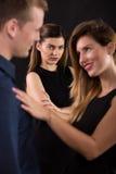 Человек обжуливая на жене Стоковое Изображение
