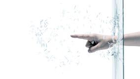Человек ломая стекло Стоковые Фотографии RF