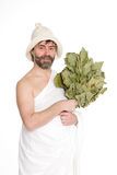 Человек одетый в традиционных одеждах ванны стоковое фото rf