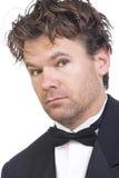 Человек одетый колодцем красивый неухоженный Стоковое Изображение RF