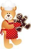 Человек печений рождества плюшевого медвежонка кашевара бесплатная иллюстрация
