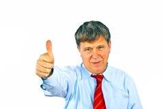 Человек показывает большие пальцы руки вверх стоковое фото rf