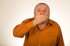 Человек показывать безмолвие Стоковое фото RF