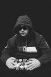 Человек покера Стоковая Фотография RF