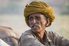 Человек портрета индийский в Pushkar Индия Стоковое фото RF