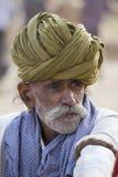 Человек портрета индийский в Pushkar Индия Стоковые Изображения