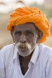 Человек портрета индийский в Pushkar Индия Стоковое Изображение