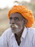 Человек портрета индийский в Pushkar Индия Стоковое Изображение RF