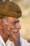 Человек портрета индийский, Pushkar Индия Стоковое Фото