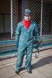 Человек - портрет игрока пейнтбола Стоковая Фотография RF