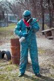 Человек - портрет игрока пейнтбола Стоковое Фото