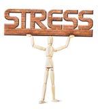 Человек под весом стресса Стоковое Изображение