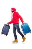 Человек подготавливая на зима Стоковые Фотографии RF