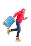 Человек подготавливая на зима Стоковая Фотография RF