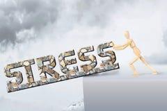 Человек получает освобожданным стресса стоковые изображения rf