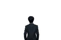 человек предпосылки изолированный делом над белизной Стоковые Фото