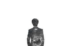 человек предпосылки изолированный делом над белизной Стоковое фото RF