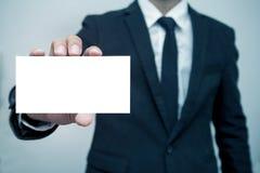 человек предпосылки изолированный делом над белизной Стоковая Фотография