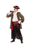 Человек представляя в костюме пирата стоковые изображения rf