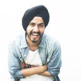 Человек представляя концепцию этничности портрета индийскую стоковое фото