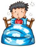 Человек просыпая вверх в середине ночи Стоковая Фотография