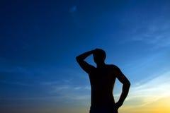 Человек против спада Стоковая Фотография RF