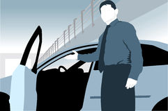 Человек продаж автомобиля Стоковое Изображение