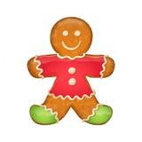 Человек пряника в красных одеждах Символ рождества Стоковые Фото