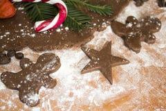 Человек пряника печенья Chokolate Стоковое фото RF