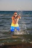 человек пляжа красивый Стоковое фото RF