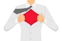 Человек рвя рубашку вектор Стоковые Фотографии RF