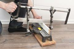 Sawing Mopboard Стоковые Фото