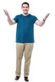 человек рукояток счастливый открытый стоковые фотографии rf