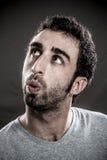 Человек свистя к любому стоковое изображение rf
