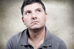 Человек смотрит вверх Стоковая Фотография