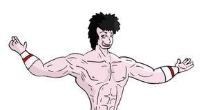 Человек спортзала Стоковое Изображение RF