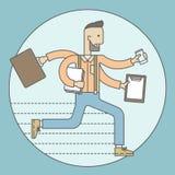 Человек способный Multitasking Стоковое Изображение